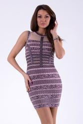 Soky soka sukienka róż 46025-1