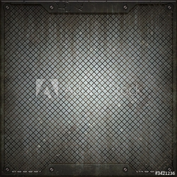 Obraz na płótnie canvas trzyczęściowy tryptyk tekstura metalu
