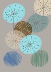 Kolorowe dmuchawce - plakat wymiar do wyboru: 20x30 cm