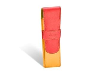 Kolorowe etui na dwa długopisy valentini colors - czerwony