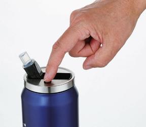 Kubek izolowany ze słomką lattina cilio 0,5 litra, granatowy ci-543803