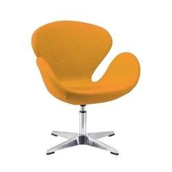 Fotel obrotowy obity wełną kaszimrową - wiele kolorów - bali chrom