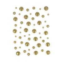 Emaliowane kropki brokatowe 54 szt - złote - ZŁO