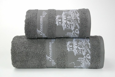 TOSCANA POPIELATY ręcznik bawełniany GRENO - popielaty