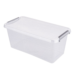 Pojemnik do przechowywania rzeczy  zabawek  na żywność  artykuły higieniczne  z pokrywką  mikrocząstki srebra orplast antibacterial 8 l