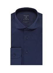 Elegancka granatowa koszula męska taliowana, slim fit 45