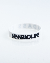 Opaska silikonowa na rękę New Bad Line Classic White - Black