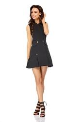 Czarna krótka żakietowa sukienka z kontrafałdami