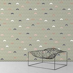 Tapeta na ścianę - chevron ticks , rodzaj - próbka tapety 50x50cm