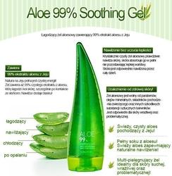 Holika holika aloe 99 soothing gel, azjatycki żel aloesowy do twarzy, ciała i włosów 55ml