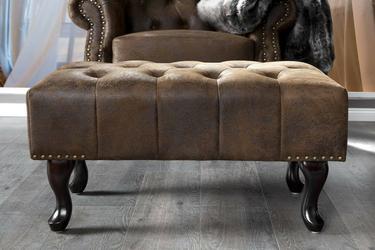 INTERIOR SPACE :: Podnóżek do fotela Chester vintage