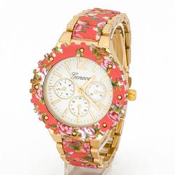 Zegarek flower pink - PINK