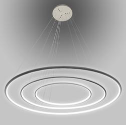 Altavola Design :: Lampa wisząca Ledowe Okręgi No.3 szary in 4k - szary
