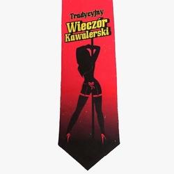 Krawat na Kawalerski - Premium – Tradcyjny Wieczór – Czerwony