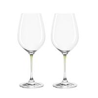 Zestaw 2 kieliszków do wina zielone La Perla Leonardo