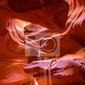Fototapeta antelope canyon arizona w navajo ziemi w pobliżu page