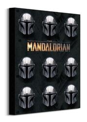 Star wars the mandalorian helmets - obraz na płótnie