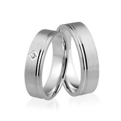 Obrączki srebrne z kamieniem - wzór ag-325