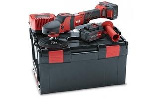 Kompletny zestaw polerski flex pe 150 – polerka rotacyjna akumulatora, zestaw z walizką + akcesoria