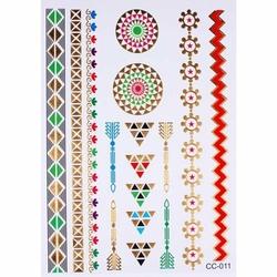 NAKLEJKI TATUAŻE geometryczne wzory ETNO kolorowe - geometric
