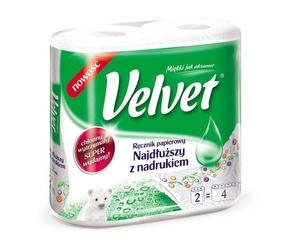Velvet najdłuższy z nadrukiem, ręcznik kuchenny, 2 rolki
