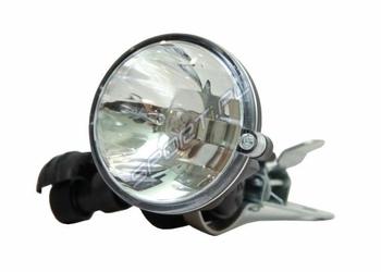 Zestaw oświetlenia prądnica prawa + lampa do rowerów z koszem