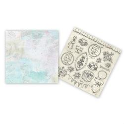 Ozdobny papier 30,5x30,5 cm - mixed media doodles - 02