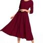 Sukienka maxi z zamkiem krytym t327 burgundowy