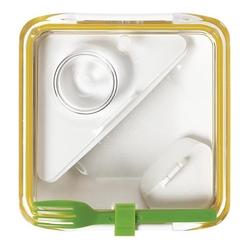 Lunch box box appetite żółto-zielony black+blum