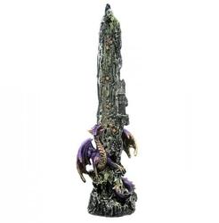 Smoczy wodospad fioletowy - podstawka na kadzidła