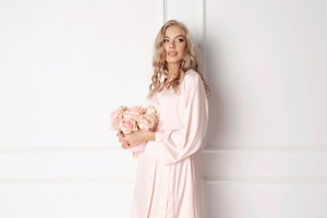 Szlafrok damski aruelle classy pink