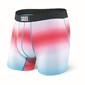 Bokserki męskie saxx vibe boxer brief white diffusion stripe - wielokolorowy