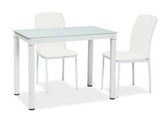 Nierozkładany stół ze szklanym blatem galant 100x60