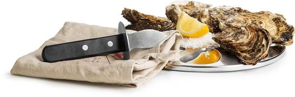 Taca i nóż do ostryg seafood sagaform sf-5017816