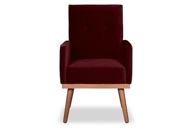 Krzesło klematisar welurowe welur bawełna 100 bordowy