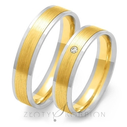 Obrączki ślubne złoty skorpion – wzór au-oe86
