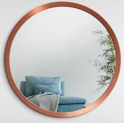 Okrągłe lustro scandinavia bold z ramą w kolorze miedzianym