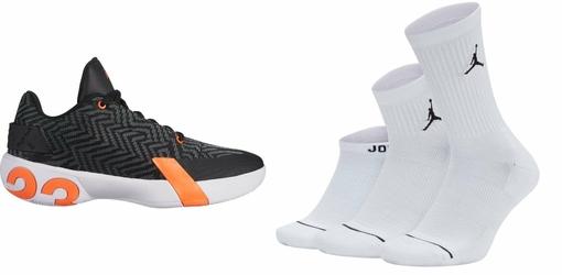 Zestaw buty Air Jordan Ultra.Fly 3 Low - AO6224-008 + skarpety Air Jordan Waterfall 3PPK- SX6274-100