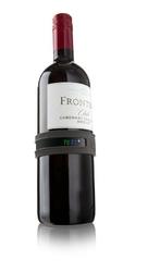 Termometr na butelkę wina Snap szary