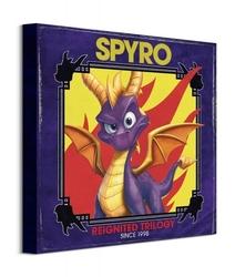 Spyro retro style - obraz na płótnie