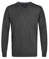 Elegancki antracytowy sweter prufuomo z delikatnej wełny merynosów s