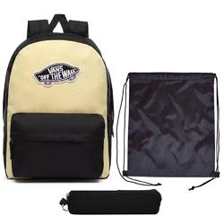 Plecak szkolny vans realm golden haze-black + worek + piórnik