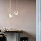 Mała lampa wisząca acorn umage biała  mosiądz 02105