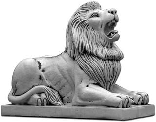 Figura ogrodowa betonowa lew 92cm