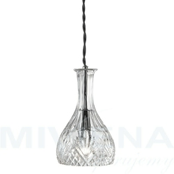Decanter lampa wisząca 1 chrom szkło
