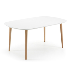 Stół rozkładany Carina 160260x100cm biały - wzór 3    rozkładane