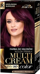 Joanna multi cream color, farba do włosów, 36 królewski burgund