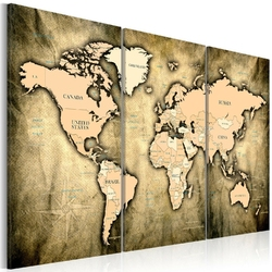 Obraz - mapa świata: piaski czasu