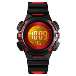 Zegarek DZIECIĘCY SKMEI 1485 LED STOPER red - RED