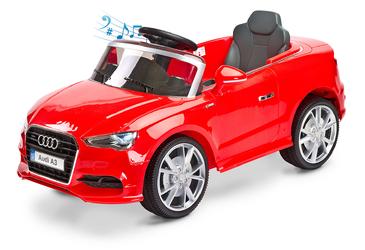 Audi A3 Czerwony Samochód dla dziecka na akumulator + PILOT